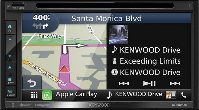 Kenwood DNX574S Navigation receiver at Crutchfield