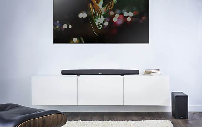 Denon HEOS HomeCinema HS2 sound bar and wireless sub