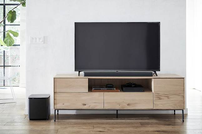 Bose Bass Module 700 shown with Bose Soundbar 700