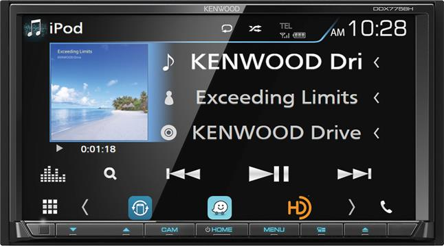 Kenwood DDX775BH DVD receiver