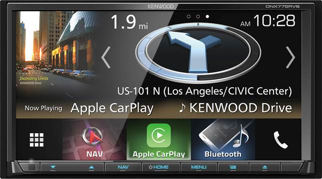 Kenwood DNX775RVS navigation receiver for RV owners and truckers