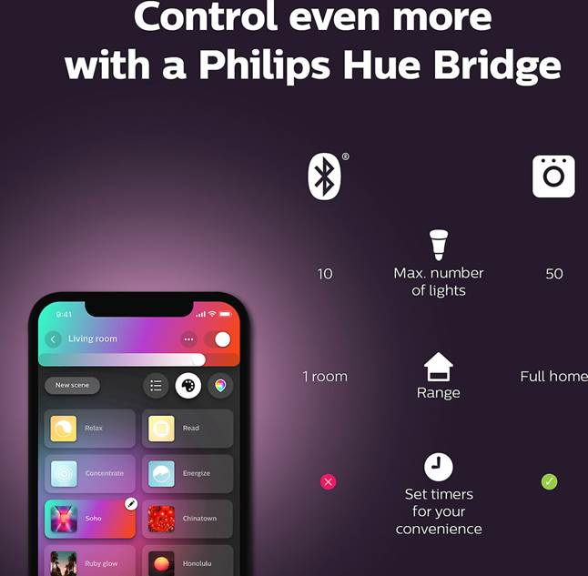 Philips Hue A19/E26 white and color ambiance bulb app