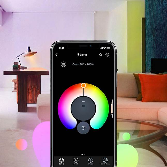 LIFX app color options