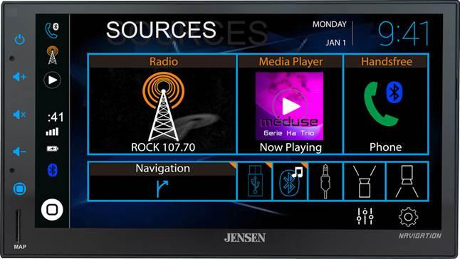 Jensen CMN8620 digital multimedia receiver with navigation