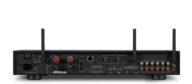 Back of Audiolab 6000A Play