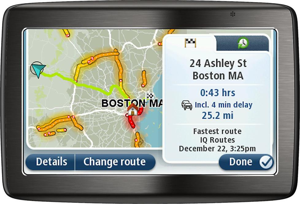 Live traffic data on your GPS unit
