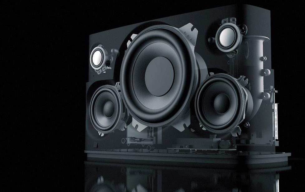 Bowers & Wilkins A7 wireless speaker system (internal view)