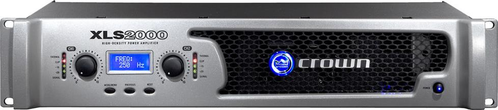Front of Crown XLS2000 power amplifier