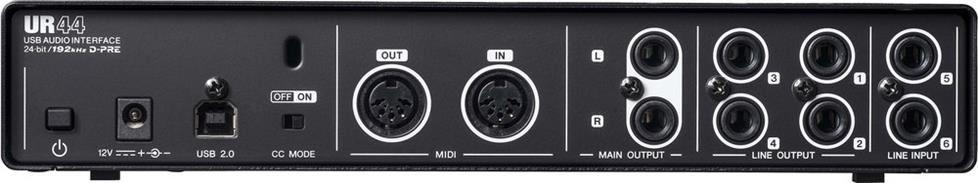 back of audio interface