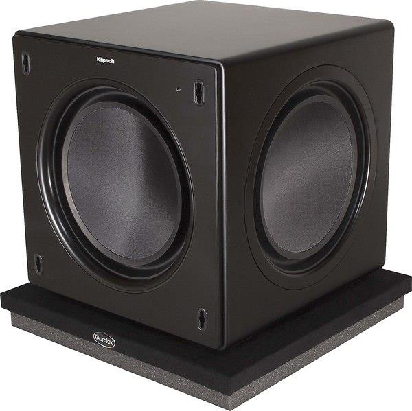 home theater subwoofer setup the auralex subdude ii isolation platform decouples your subwoofer from the floor which gives you cleaner tighter bass