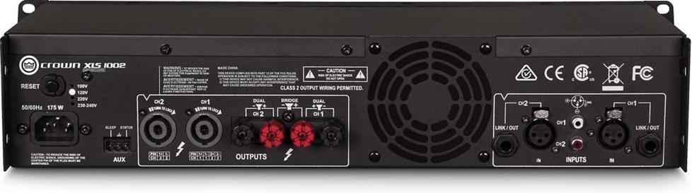 Crown Xls 1002 Drivecore 2 Series Power Amplifier 215w