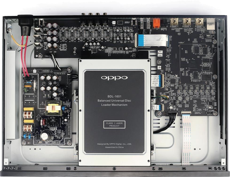 Parts inside of the Oppo UDP-203 Blu-ray player