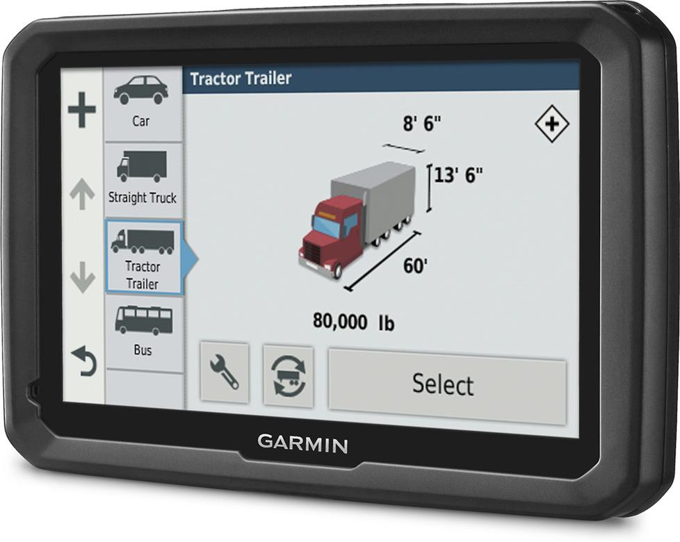 Garmin dezl 580LMT-S portable navigator for truckers