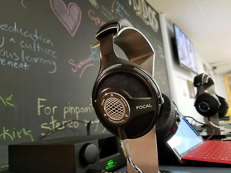 Focal Utopia headphones paired with TEAC UD-503 headphone amp