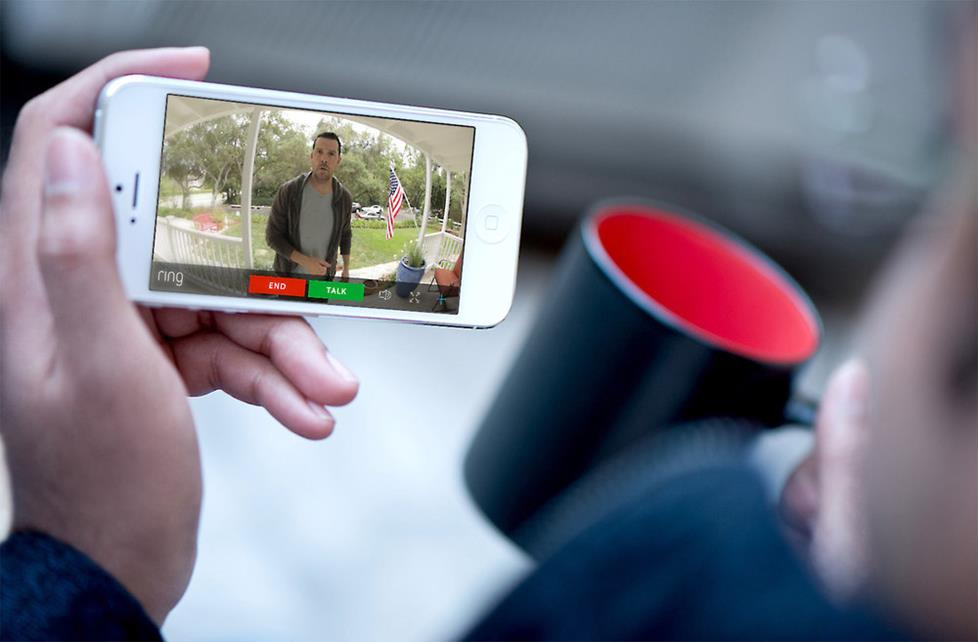 Ring Video Doorbell Pro allows you to answer the doorbell from a mobile app.