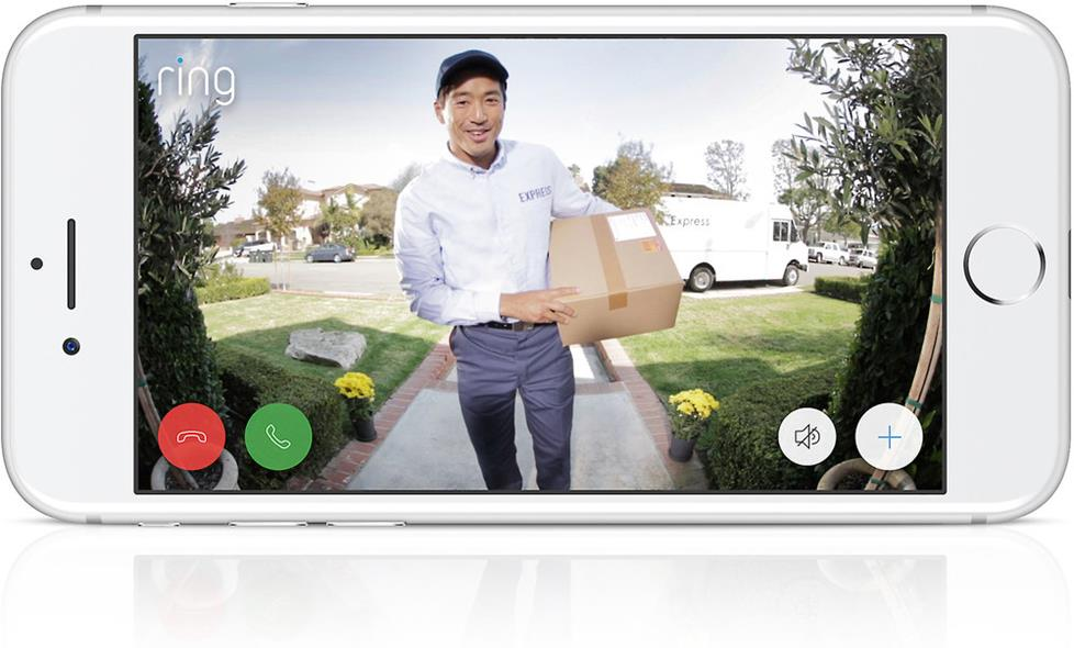 Ring Video Doorbell 2 sees package delivery