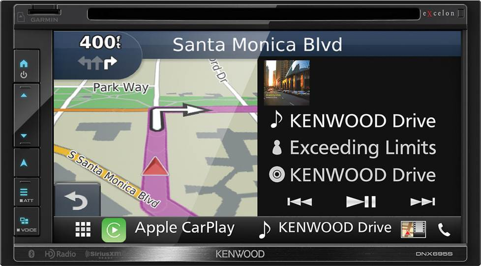 Kenwood's DNX695S navigation/DVD receiver