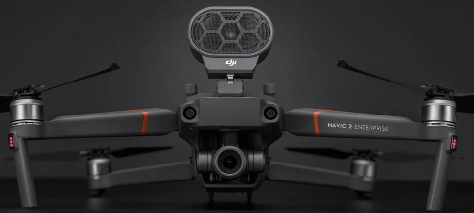 DJI Mavic 2 Enterprise with included speaker accessory
