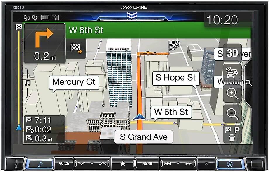 Alpine X308U digital multimedia navigation receiver