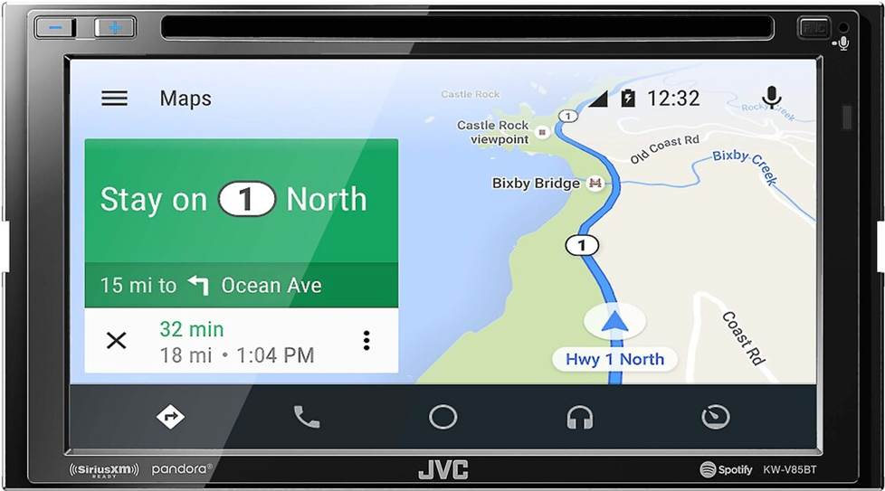 JVC KW-V85BT DVD receiver with Android Auto