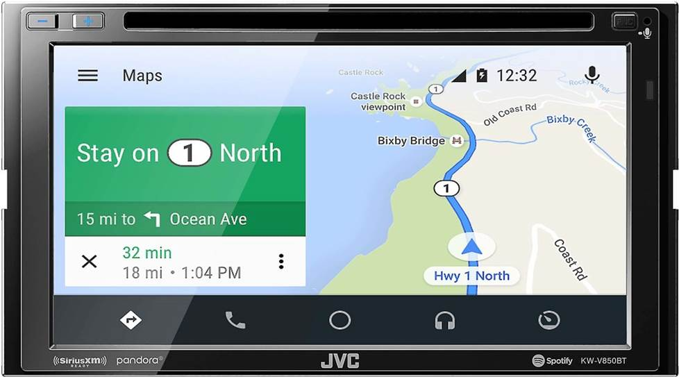 JVC KW-V850BT DVD receiver with Android Auto