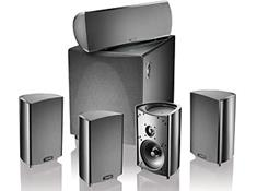 on a Definitive Technology home theater speaker system