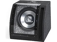loaded enclosures from Kicker, Rockford Fosgate, and more