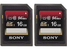 Sony SDHC UHS-1 Memory Card 2-Pack