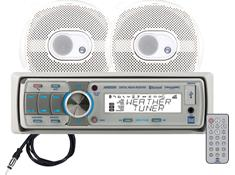 Dual Marine Receiver/Speakers Package