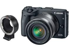 Canon EOS M3 Kit with Lens Mount Adapter for Standard Canon Lenses