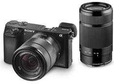 on the Sony a6000 two lens mirrorless camera kit