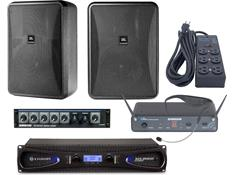 Gym Sound System with Wireless Microphone