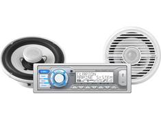 "<span class='specials-prod-title'>Clarion M505B1</span><span class='specials-prod-subtitle'>Marine receiver/speakers package — includes M505 digital media receiver and two 6-1/2"" marine speakers</span>"