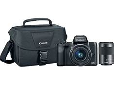 <span class='specials-prod-title'>Canon EOS M50 Two Lens Holiday Bundle</span><span class='specials-prod-subtitle'>24.1-megapixel mirrorless camera with 15-45mm and 55-200mm IS zoom lenses, camera bag, and 16GB memory card</span>