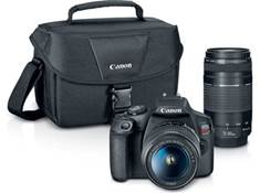 on a Canon EOS Rebel T7 two zoom lens kit, now $499