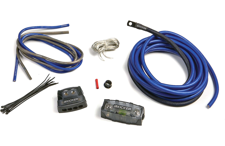 KICKER PKD4 DUAL 4 GAUGE 1500W AMP POWER INSTALLATION COPPER WIRE AMPLIFIER  KIT