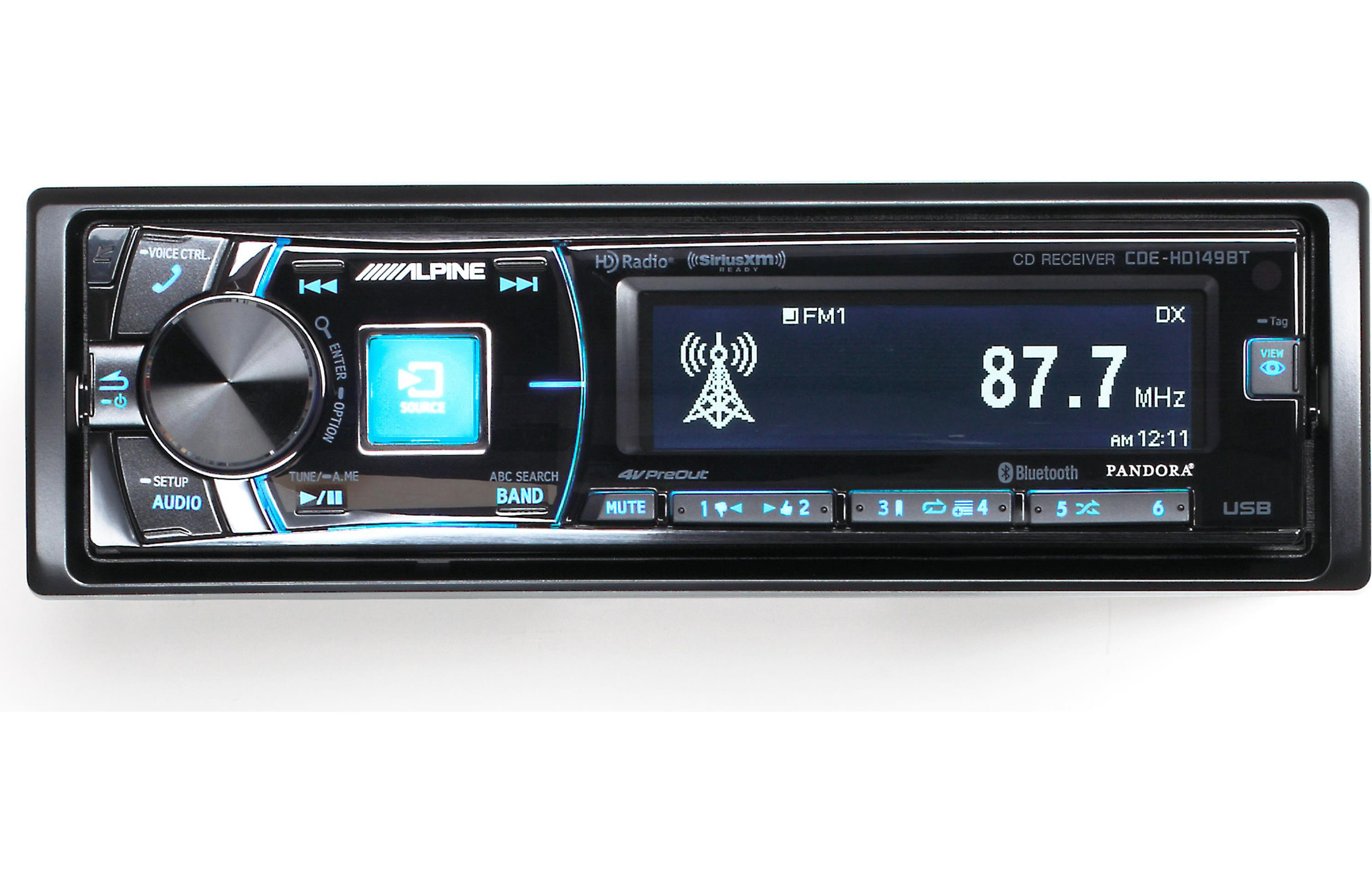 alpine cde hd149bt single din bluetooth car stereo w hd. Black Bedroom Furniture Sets. Home Design Ideas