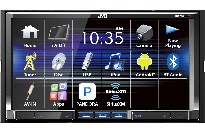 JVC KW V420BT DVD CD Player 7 Touchscreen LCD Bluetooth SiriusXm Ready