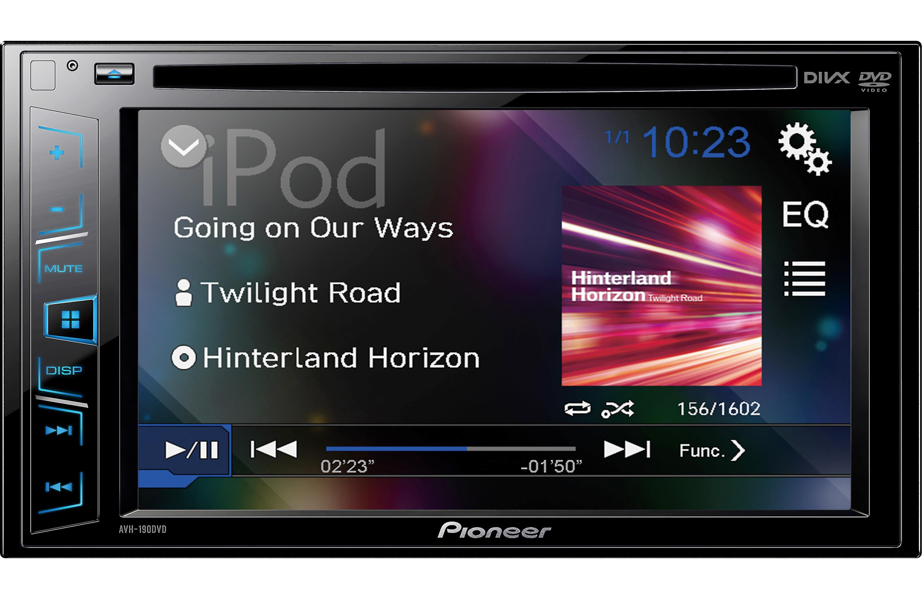 Of the line double din touch screen car stereos from pioneer and sony - New Pioneer Avh 190dvd 6 2 Double Din Dvd Usb Car Stereo Replaced Avh 180dvd