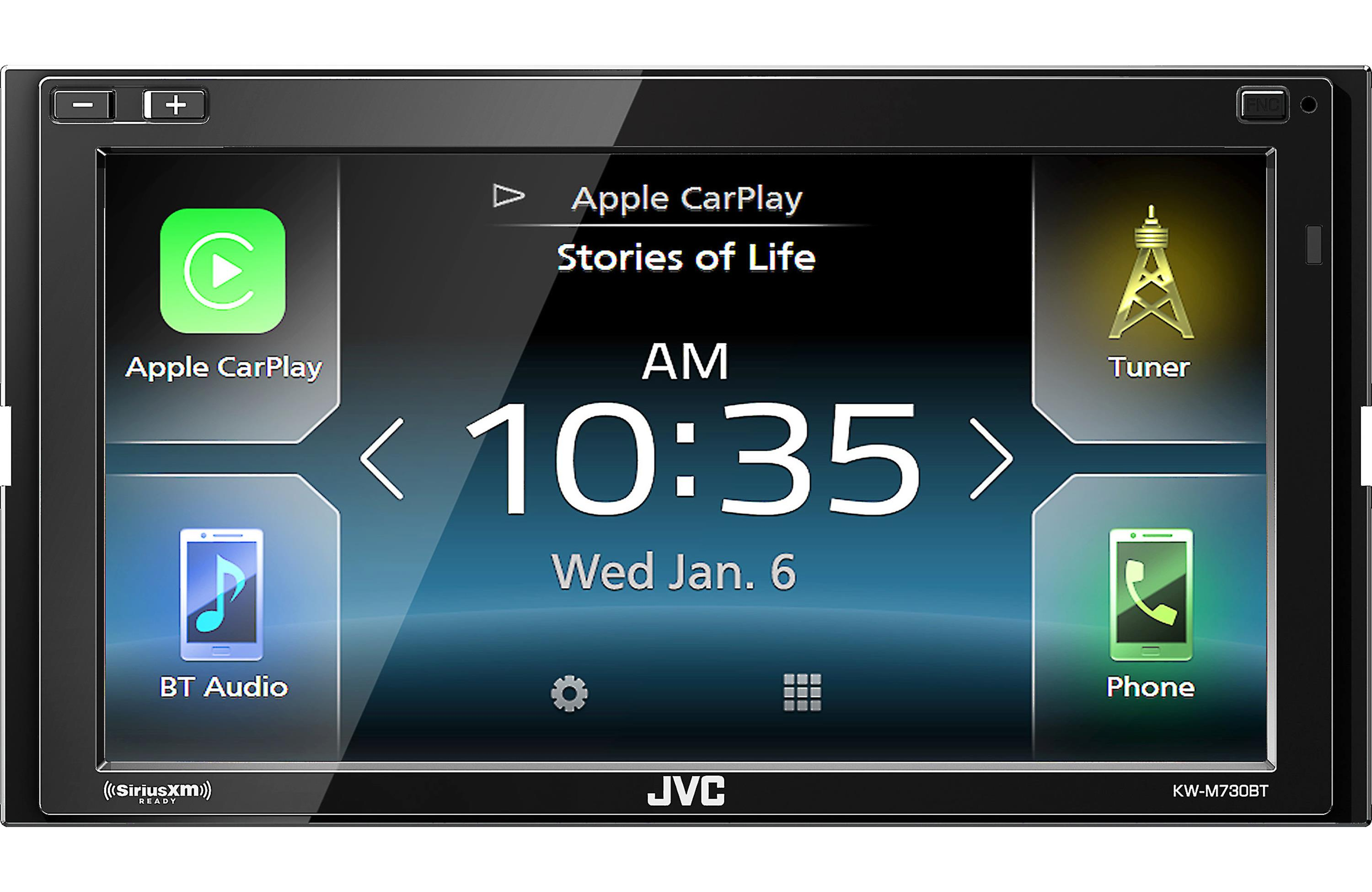 jvc kw m730bt double din digital media player 6 8. Black Bedroom Furniture Sets. Home Design Ideas