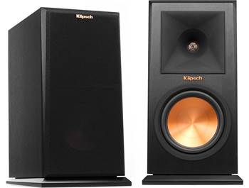 on a pair of Klipsch Reference Premiere RP-160M bookshelf speakers
