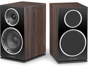 on a pair of Wharfedale Diamond 225 bookshelf speakers, now $299.99