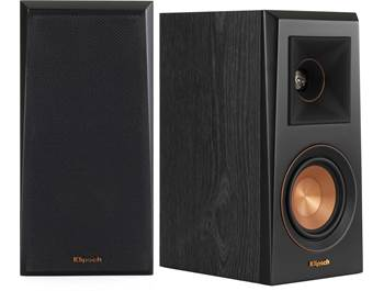 on a pair of Klipsch Reference RP-400M bookshelf speakers, now $299