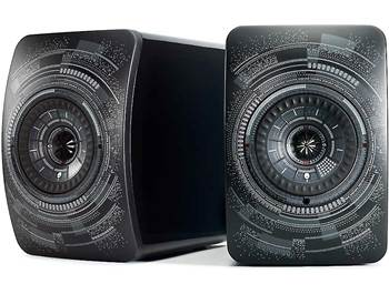 on a pair of KEF LS50 Wireless high-performance powered speakers