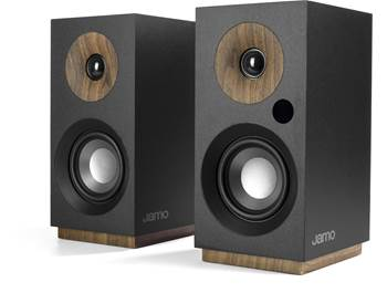 on a pair of Jamo S 801 PM powered bookshelf speakers, now just $149.99