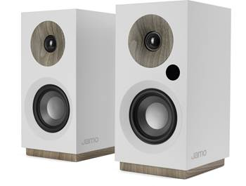 on a pair of Jamo S 801 powered bookshelf speakers, now $149.99