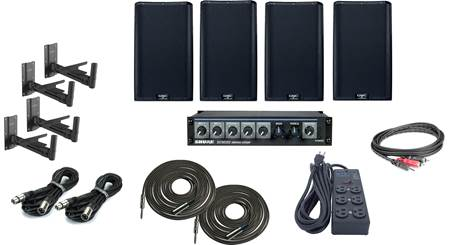 QSC High Output Gym Sound System Bundle