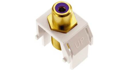On-Q RCA to F-Type Keystone Connector