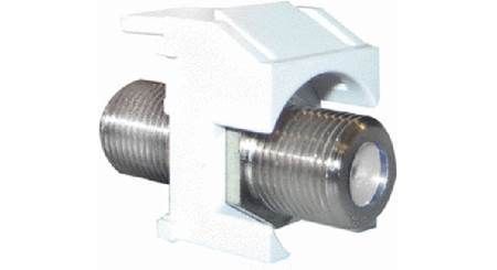 On-Q Recessed Nickel F-type Connector (White)