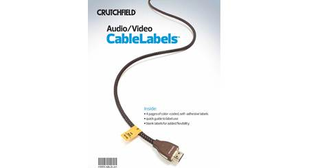 Crutchfield Audio/Video CableLabels™